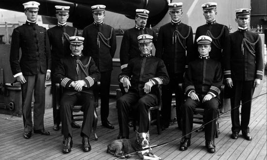 Fleet Commander-in-Chief Uriel Sebree and his staff on board the Tennessee
