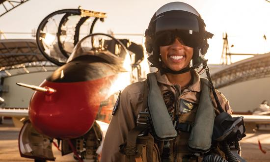 There are signs of racial and gender progress in the Navy. Lieutenant (junior grade) Madeline Swegle recently broke ground as the Navy's first black female tactical jet aviator.