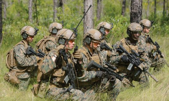 U.S. Marines make final Preparations to their Sea Dragon 2025 weapon systems and gear during a live-fire range at Camp Lejeune, N.C., July 12, 2017