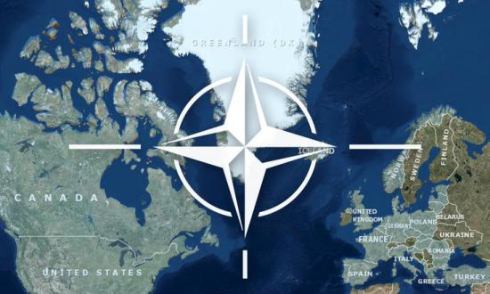 NATO Map and Logo