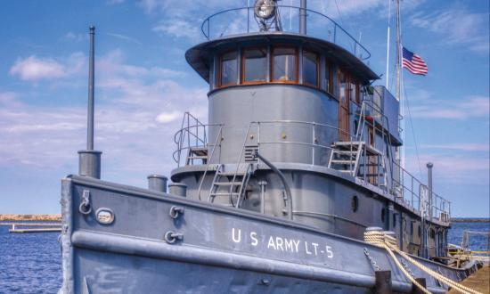 U.S. Army Large Tug Major Elisha K. Henson (LT-5) at the  H. Lee White Maritime Museum, Oswego, New York