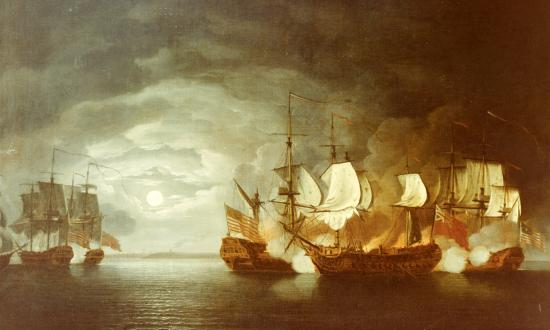 Battle between Continental Ship Bonhomme Richard and HMS Serapis, 23 September 1779pwreck mystery that has led to at least two possible wreck locations.