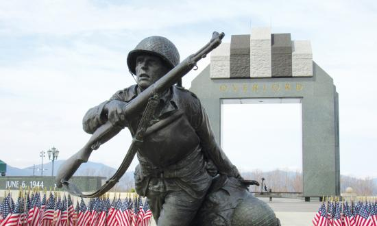 View of the National D-Day Memorial in Bedford, Virginia