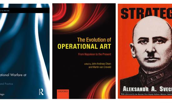 Cover shots of three operational art books