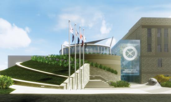 Artist concept of the new Jack C. Taylor Conference Center