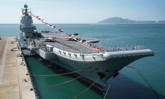 Chinese aircraft carrier Shandong