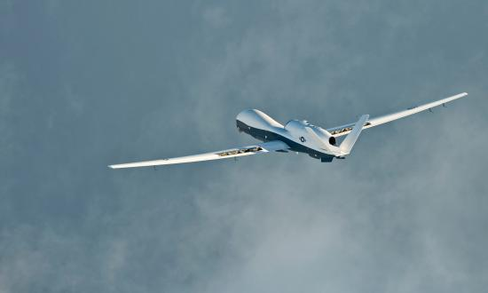 MQ-4C Triton unmanned aerial vehicle in flight