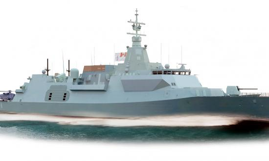 An artist rendering of the Canadian Surface Combatant