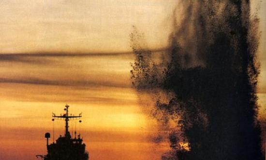 "PRIZE WINNER: ""TWILIGHT EXPLOSION,"" GERARD DE BLOOIS, ROYAL NETHERLANDS NAVY"