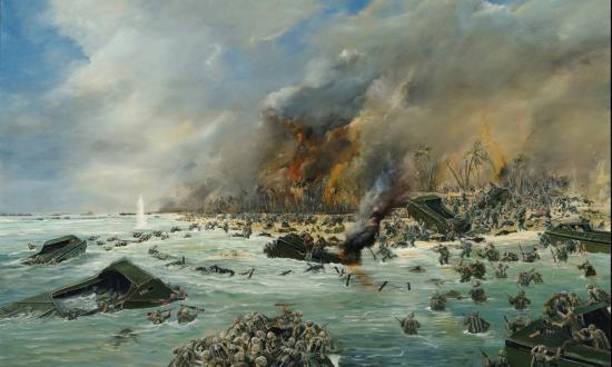 Marine Assault on Tarawa by John Hamilton