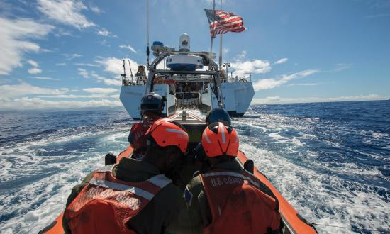 Coast Guard small boat returns to the USCGC Stratton