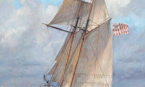 Painting by Patrick O'Brien; U.S. Coast Guard Collection