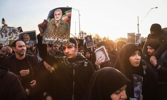Iranian mourners pay tribute to Qasem Soleimani in Tehran