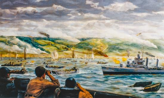 """The Battle for Fox Green Beach, D-Day Normandy"" by Dwight Shepler"