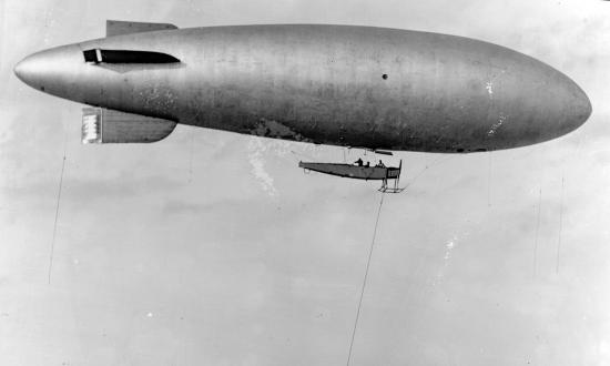 U.S. Navy B-class airship in flight
