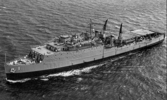 USS Ashland (LSD-1) underway at sea.