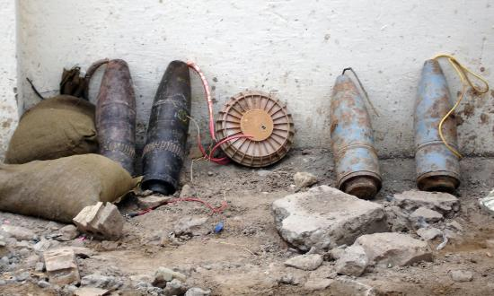 Improvised explosive devices found in Baghdad in 2005