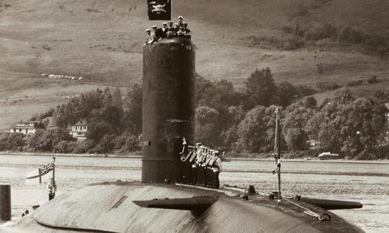 HMS Conqueror in July 1982.
