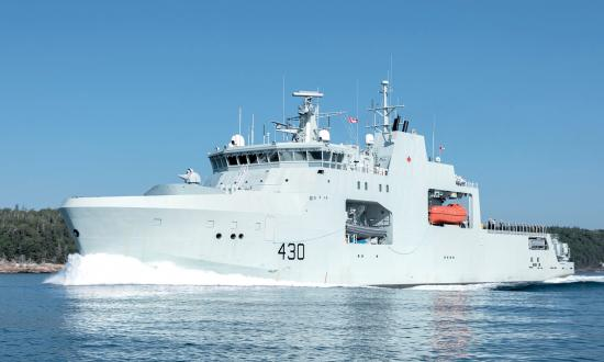 The Harry DeWolf offshore patrol ship.