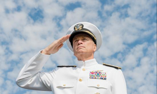 Admiral Winnefeld salutes during National POW/MIA Day