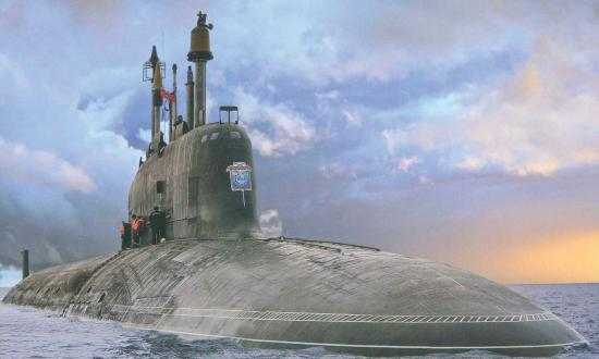 Russian Severodvinsk-class nuclear-powered multipurpose attack submarine