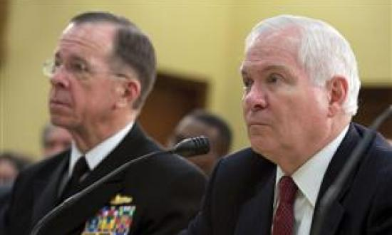 Defense Secretary Robert M. Gates (right), pictured here testifying with Chairman of the Joint Chiefs of Staff Admiral Mike Mullen before the House Appropriations Committee on 24 March, made headlines recently with his criticism of expensive, big-ticket w