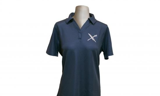 Front view on mannequin of U.S. Naval Institute Women's Polo Shirt by Under Armour®