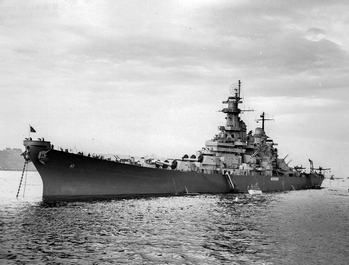 USS Missouri in 1945